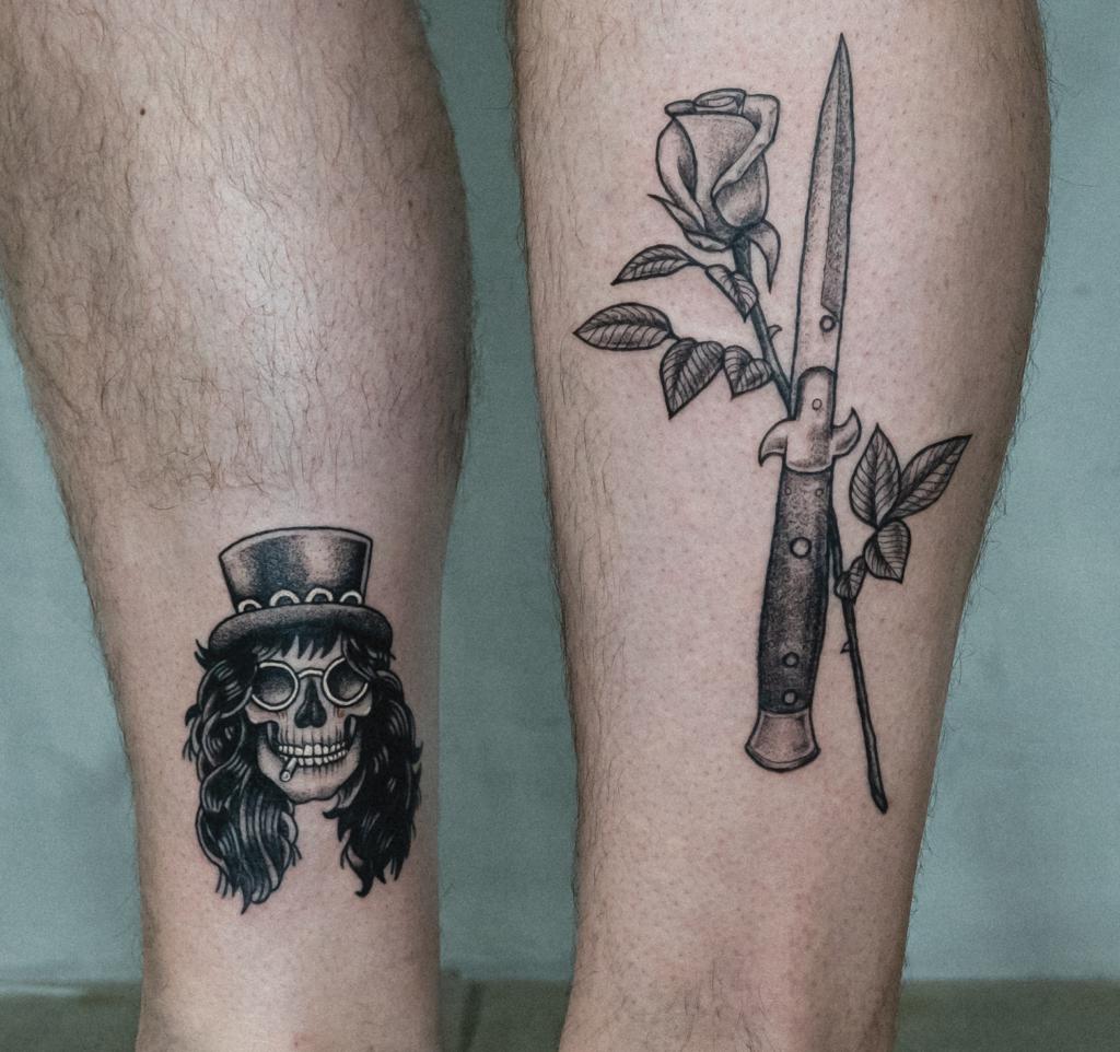 Old school traditional tattoo