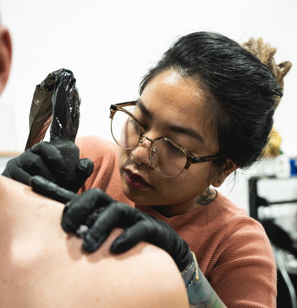 Woman tattoo artist los angeles