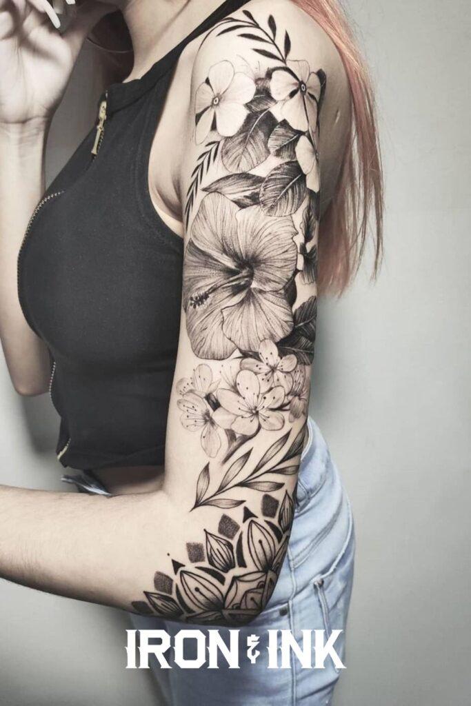 Flower tattoo woman